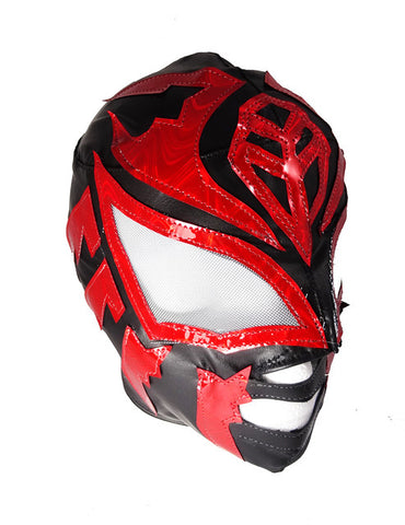 SOMBRA (Youth-LYCRA) Youth Lucha Libre Wrestling Mask - Black/Red
