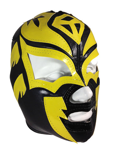 SOMBRA Lucha Libre Wrestling Mask (pro-fit) Black/Yellow