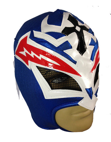 CRAZY MAN Lucha Libre Wrestling Mask (pro-fit) Blue