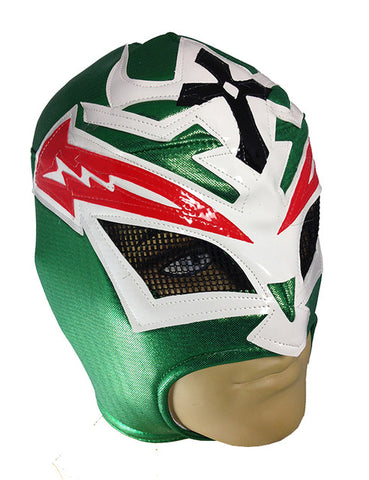 CRAZY MAN Lucha Libre Wrestling Mask (pro-fit) - Mexico Flag