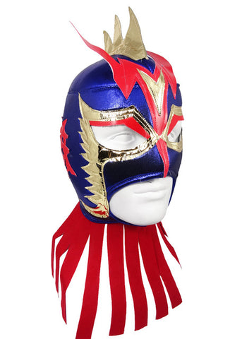 ULTIMO DRAGON Lucha Libre Wrestling Mask (pro-fit) Blue