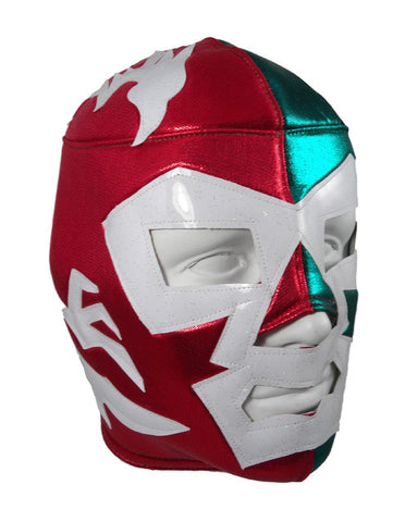 DR. WAGNER Lucha Libre Wrestling Mask (pro-fit) Red/Green