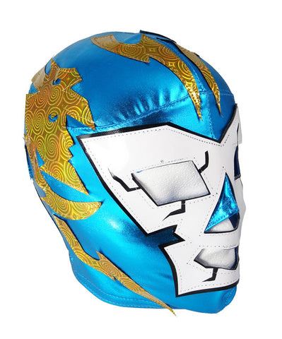 DR. WAGNER (Youth-LYCRA) Youth Lucha Libre Wrestling Mask - Teal/White