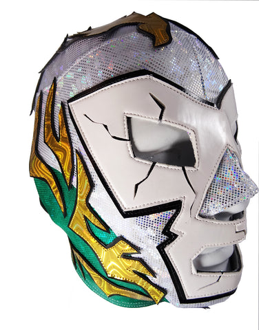 DR. WAGNER (pro-LYCRA) Adult Lucha Libre Wrestling Mask - Red/Green