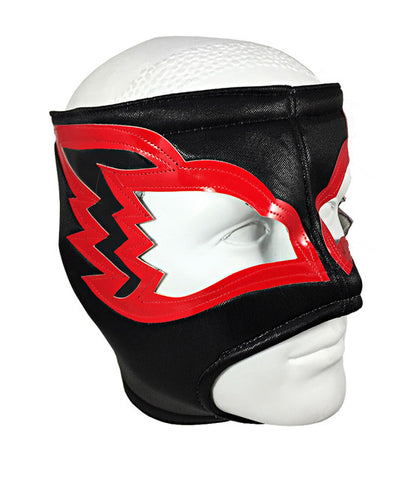 WHITE HAWK Adult Lucha Libre Wrestling Mask (pro-fit) Black/Red