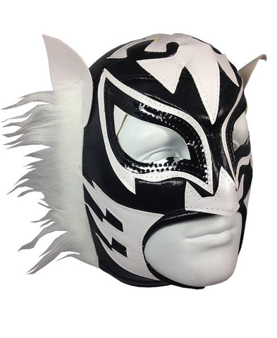 WHITE TIGER Lucha Libre Adult Wrestling Mask (pro-fit) Black/White
