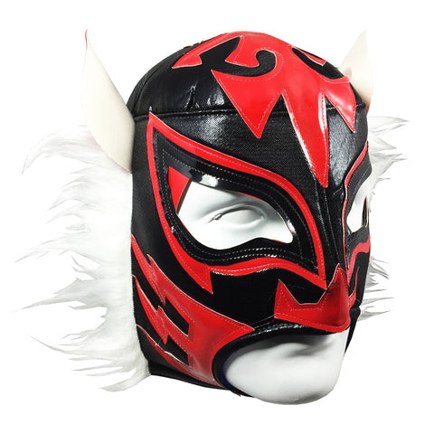 WHITE TIGER Lucha Libre Wrestling Mask (pro-fit) Black/Red