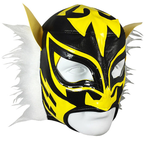 WHITE TIGER Lucha Libre Wrestling Mask (pro-fit) Black/Yellow