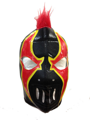 CRAZY CLOWN Lucha Libre Wrestling Mask (pro-fit) Black/Red