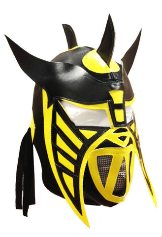 HYSTERIA Lucha Libre Wrestling Mask (pro-fit) Black/Yellow