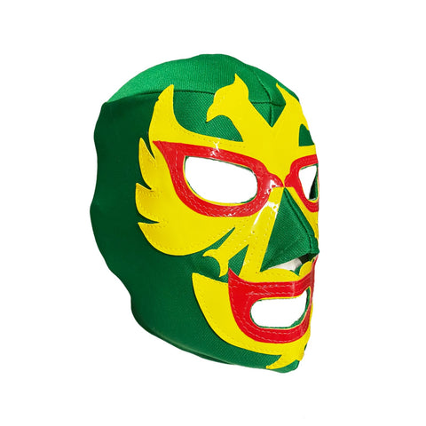 DOS CARAS Youth Young Adult Lucha Libre Wrestling Mask - Green/Yellow