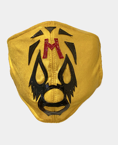 MIL MÁSCARAS Lucha Libre novelty Adult size Lycra FACEMASK YELLOW