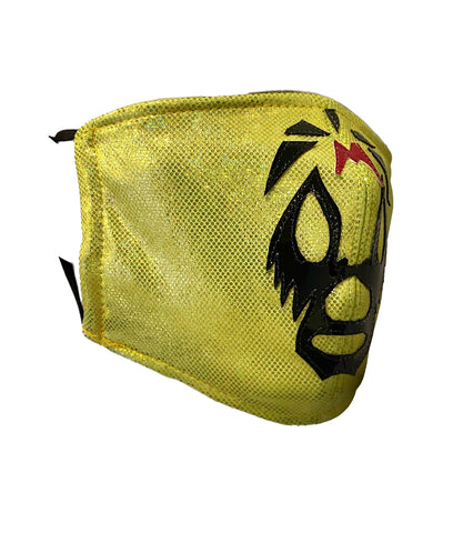 MIL MÁSCARAS Lucha Libre novelty Adult size Lycra FACEMASK Hot Yellow