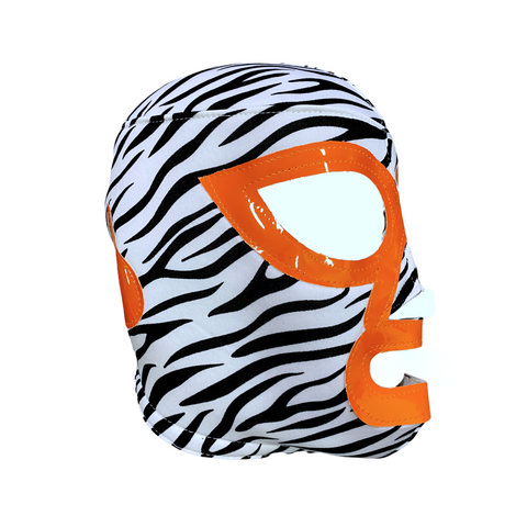 LUCHADOR ZEBRA PRINT Lucha Libre Wrestling Mask (pro-fit) orange