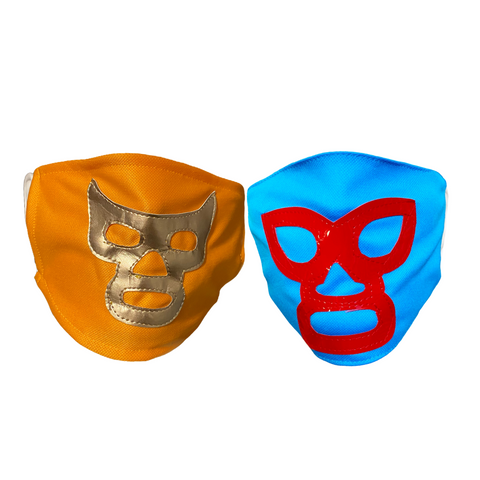 2 pack NACHO LIBRE / RAMSES Lucha Libre novelty Adult size FACEMASK bundle