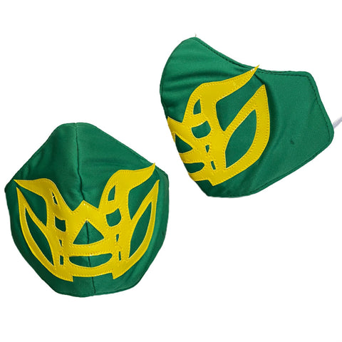 FISHMAN Lucha Libre novelty Adult size FACEMASK - Green