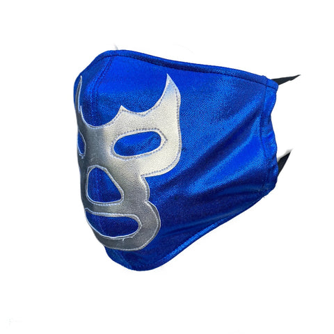 BLUE DEMON Lucha Libre novelty Adult size Lycra FACEMASK