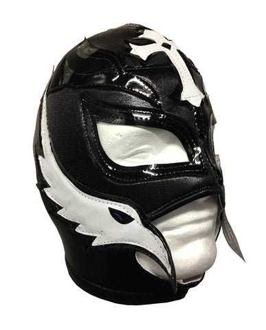 REY MYSTERIO Adult Lucha Libre Wrestling Mask (pro-fit) Black/White
