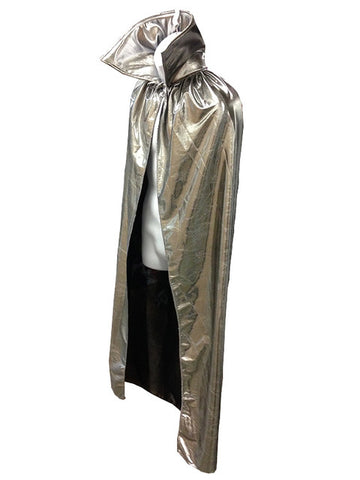 "ADULT LUCHADOR 54"" Lucha Libre Halloween Costume Cape - Metallic Silver"
