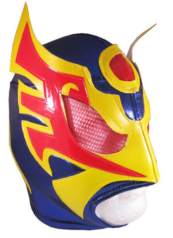 ULTIMO GUERRERO Lucha Libre Wrestling Mask (pro-fit) Blue/Yellow/Red