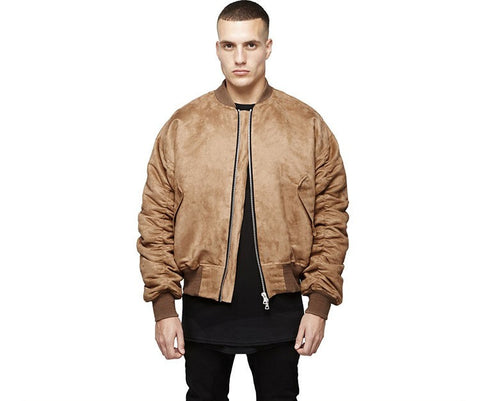Men Women online shopping fashion cheap Streatwear Thick brown Leather bomber Jacket - HYPERFUSER®