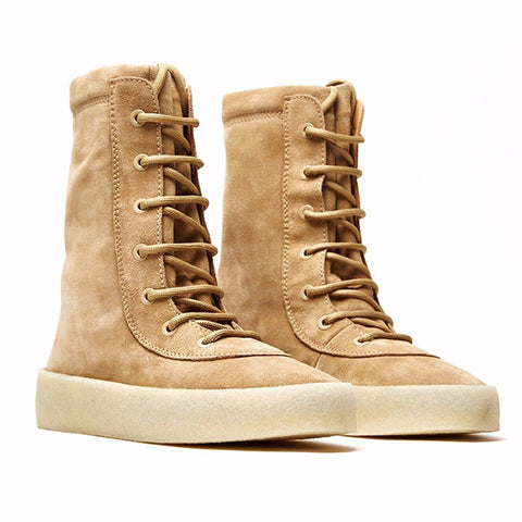 Men Women online shopping fashion cheap Streatwear MILITARY CREPE BEIGE HIGH SNEAKERS - HYPERFUSER®
