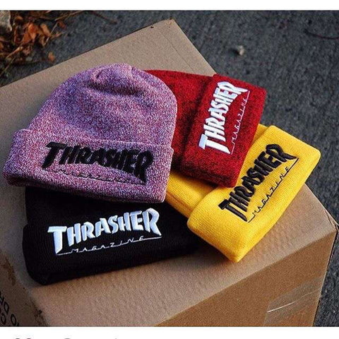 Men Women online shopping fashion cheap Streatwear Winter Thrasher Cotton Knitted Beanies - 4 colors - HYPERFUSER®