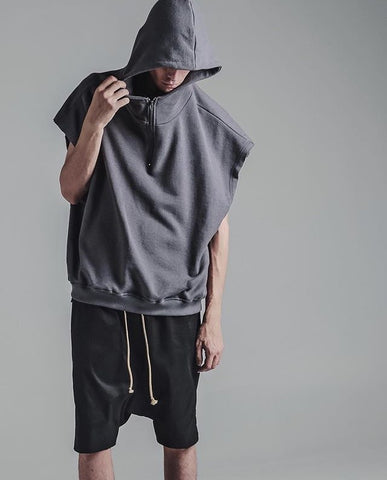 Men Women online shopping fashion cheap Streatwear Oversize hooded Tank top - 2 colors - HYPERFUSER®
