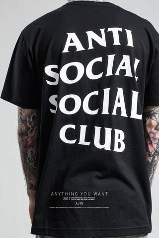 Men Women online shopping fashion cheap Streatwear ASSC anti social social club Tshirt - 5 colors - HYPERFUSER®