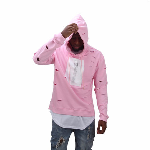 Men Women online shopping fashion cheap Streatwear Pink printed hoodie - HYPERFUSER®
