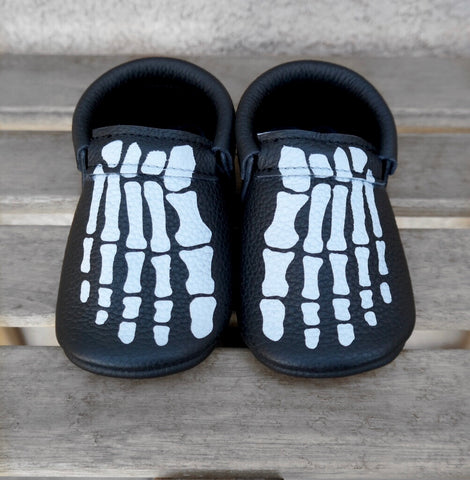 Black Painted Skeleton Feet