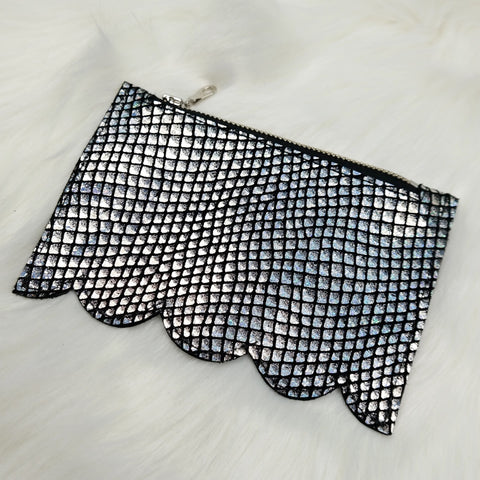Silver mermaid small pouch