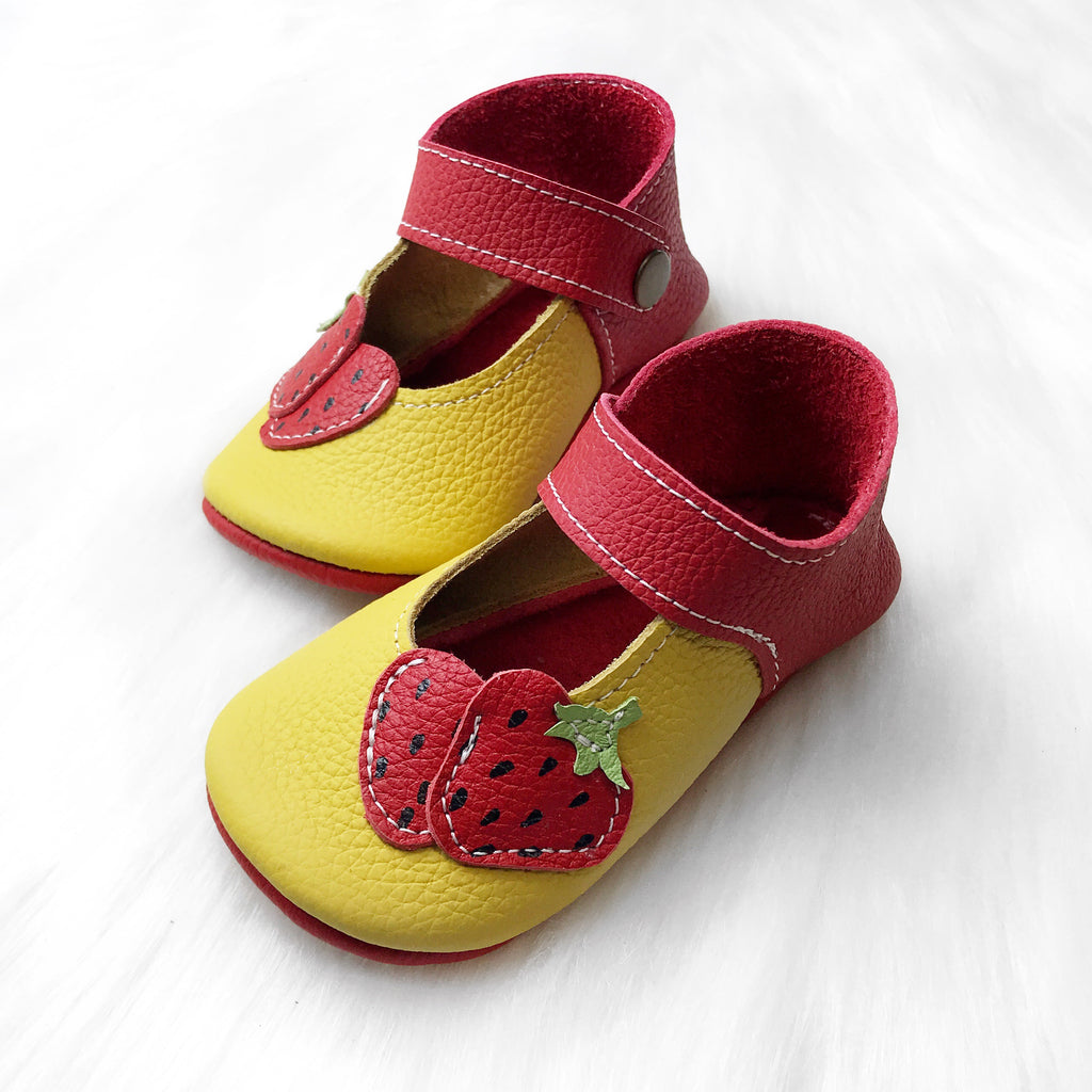 Size 5/6 Strawberry Mary Janes