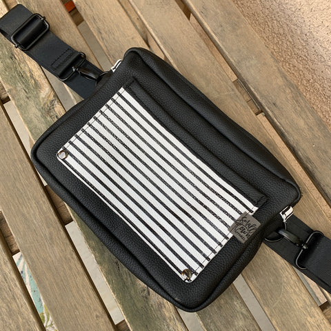 3-in-1 Stripes on black bag