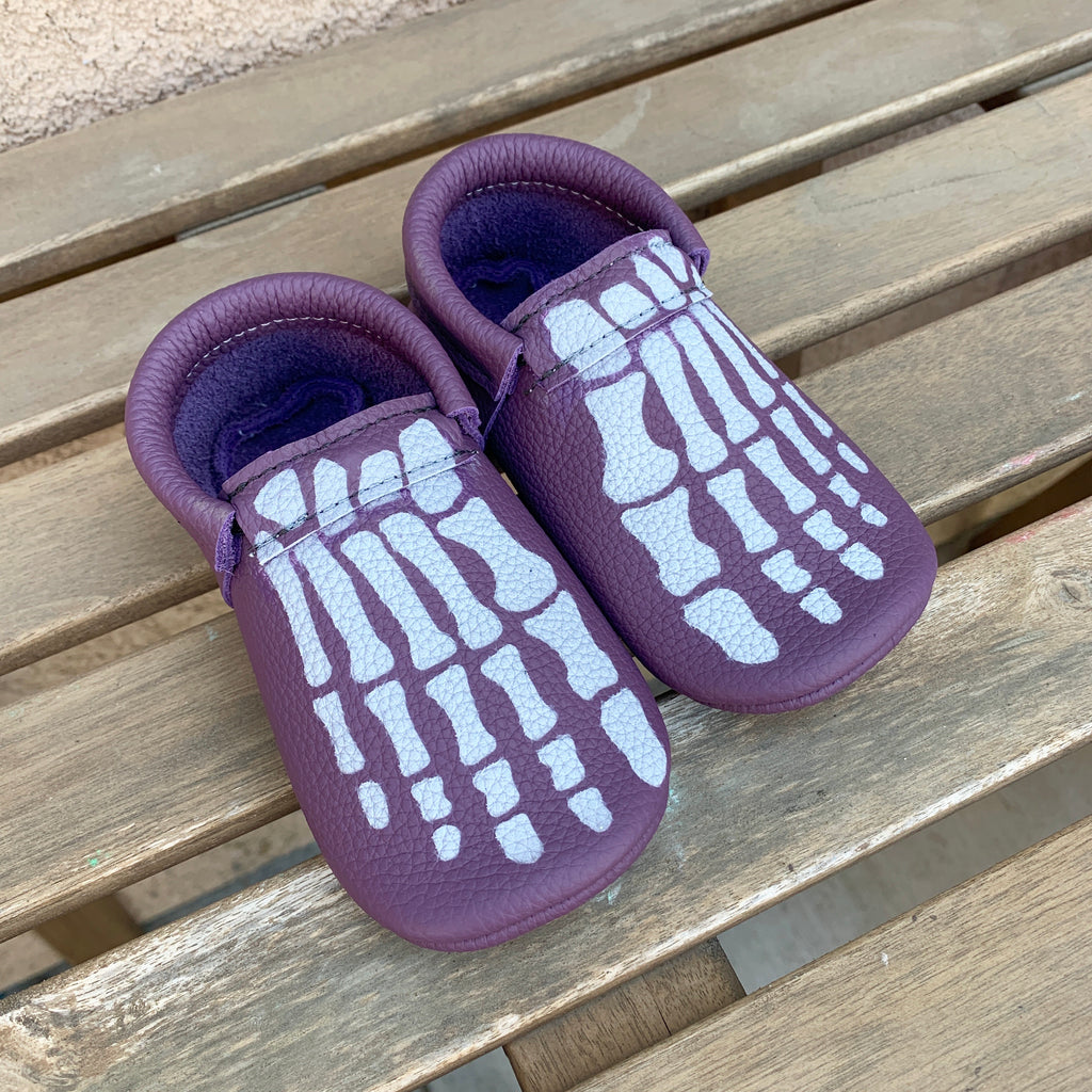 Purple Painted Skeleton Feet