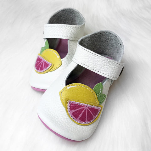 Size 5/6 Lemon Mary Janes