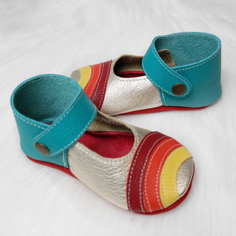 Size 7 Rainbow Mary Janes