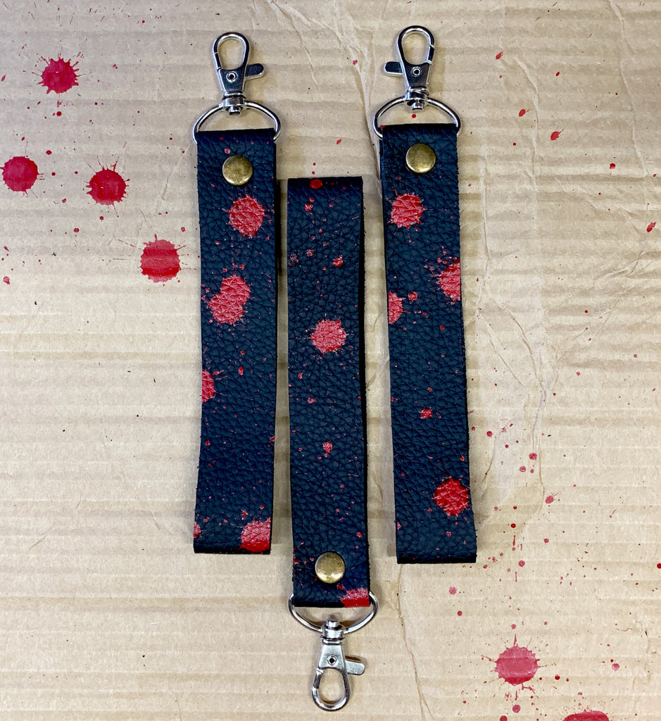 Blood splatter wristlet