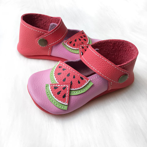 Size 5/6 Watermelon Mary Janes