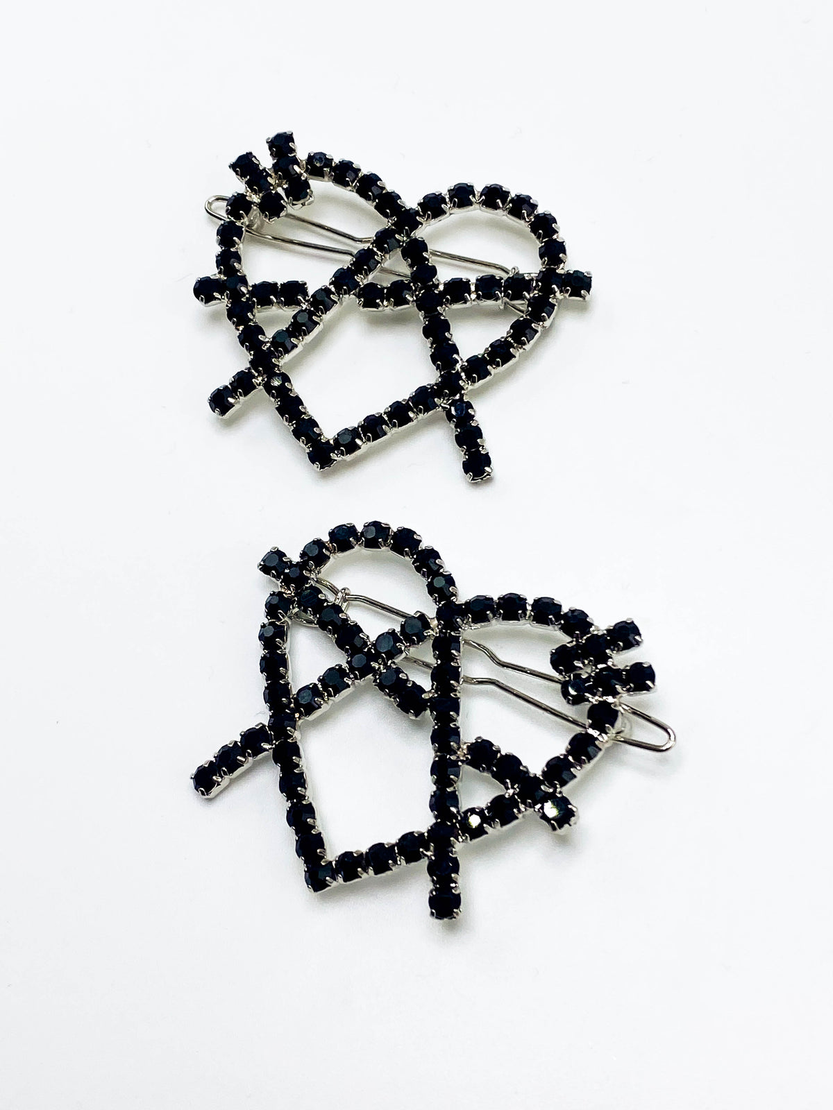 Black Anarchy Hair Clips