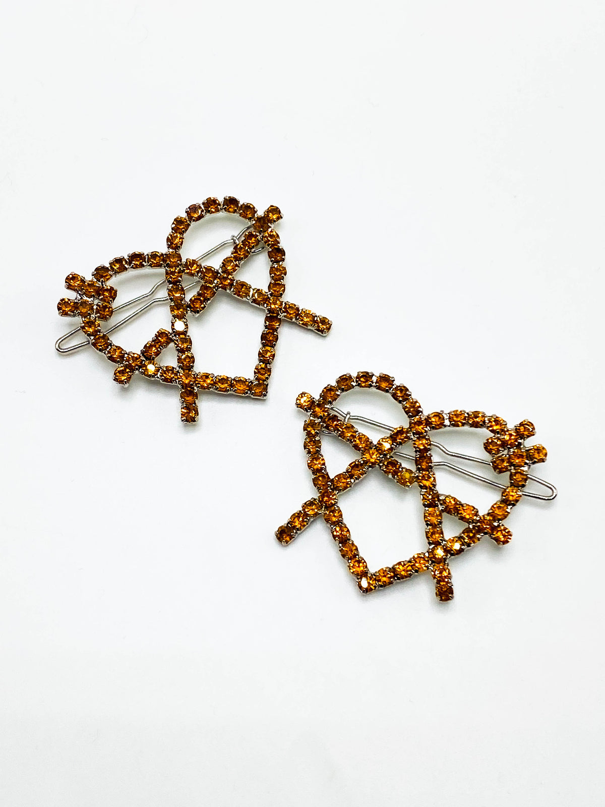 Orange Anarchy Hair Clips