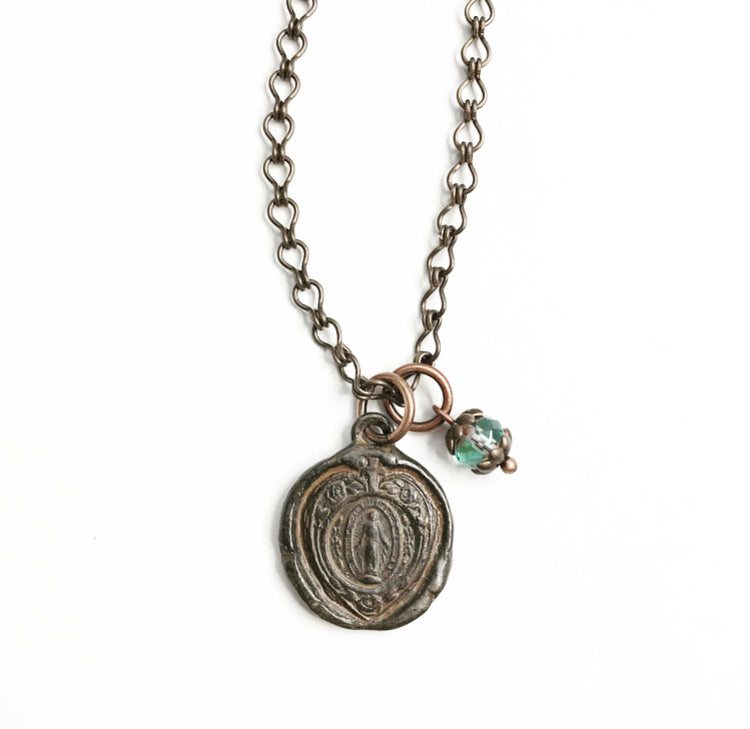 Mary Wax Seal Necklace