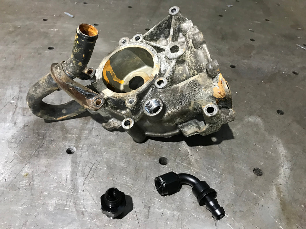 Om606/605 water pump conversion parts