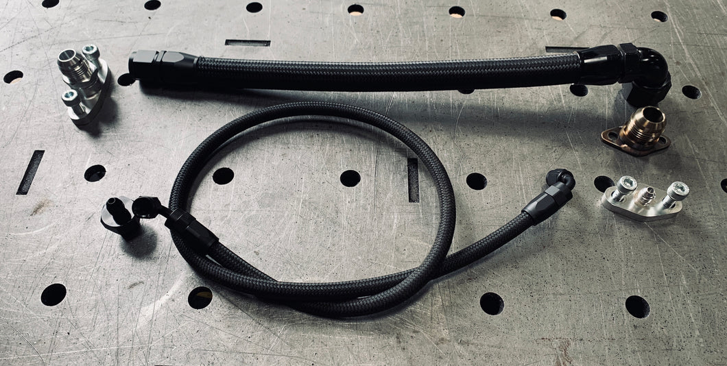 Turbo oil feed and drain kit