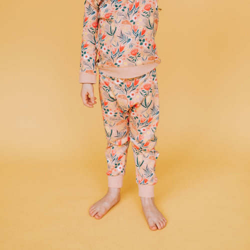 Native Garden Print Terry Pants