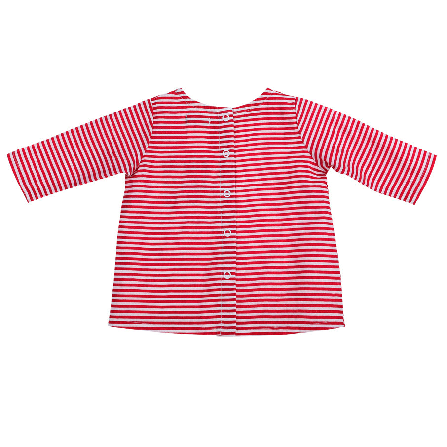 Frankie Linen Top Red Stripe