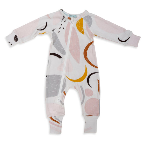 Mona Abstract Print Zipsuit