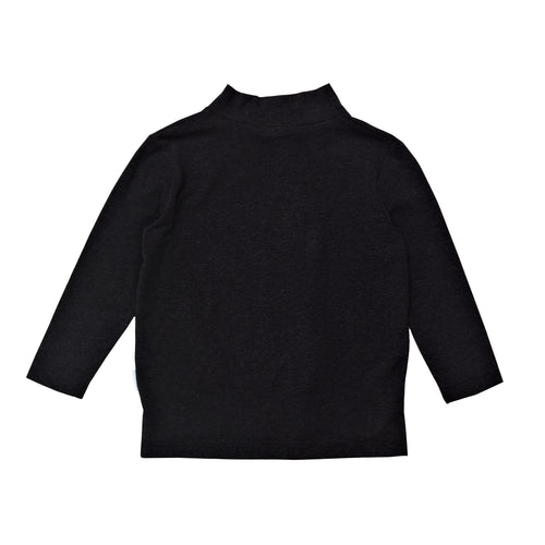 Mini Skivvy Top Black Marle