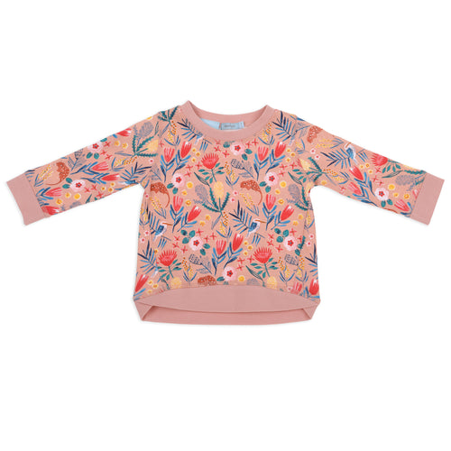 Native Garden Print Terry Sweater