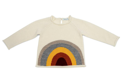 Rainbow Wool Knit Sweater